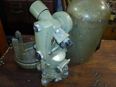 WILD HEERBRUGG T1A  Bullit Case Theodolite #125747  Switzerland SURVEYING vtg
