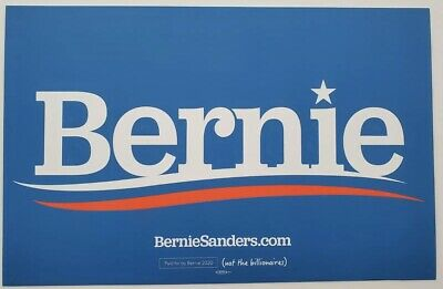 Bernie Sanders Official Laminated 2020 Campaign Sign Yard Holder Included