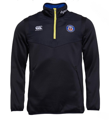 BATH RUGBY Boys Black Canterbury Thermoreg 1/4 Zip Pullover Top 6 Years BNWT