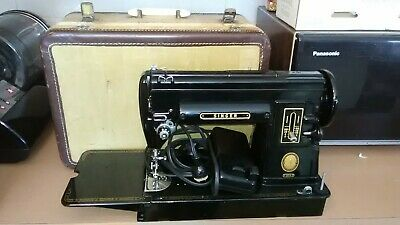 Vintage Singer 301A Black Sewing Machine with Foot Pedal & case