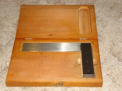 STARRETT 6 inch precision beveled edge solid square  #55