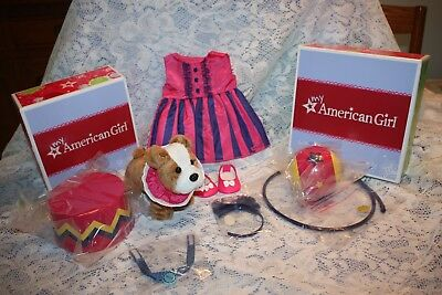 2 NEW American Girl TALENT SHOW SET & MEATLOAF PET SET - doll outfit dog RETIRED