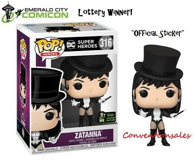 *Official* Eccc 2020 Funko Pop! Dc Super Heroes Zatanna Vinyl Figure