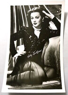 Actress RPPC Hedy Lamarr Real Photo Post Card Vtg Pin Up Legs Stockings Inventor