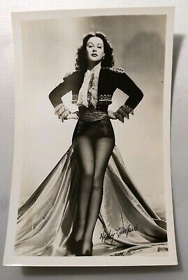 Actress RPPC Hedy Lamarr Real Photo Post Card Vtg Pin Up Legs Sexy Stockings