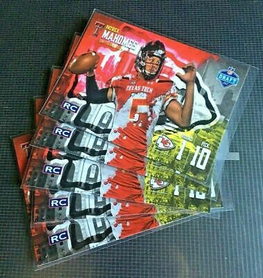 5 Lot 2017 Patrick Mahomes II KC Chiefs Pro Focus Draft Rookie Card RC ACEO