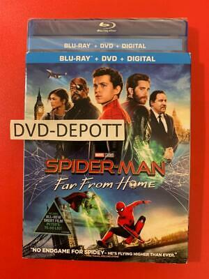Spider-man: Far From Home Blu-ray + DVD + Digital & Slipcover New FAST Free Sh