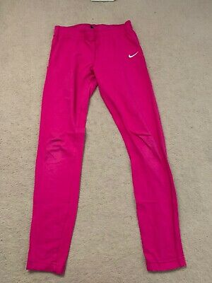 Girls Nike Pink Leggings Size 10 - 12 Years Medium