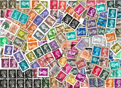 GB - Machin Definitive Stamps Kiloware with High Values - Approx 40 gms