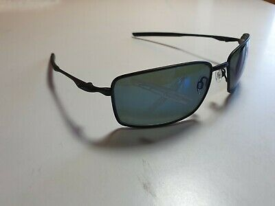 Oakley Sunglasses Square Wire Matt Black Frame w/ Ice Iridium RX lens