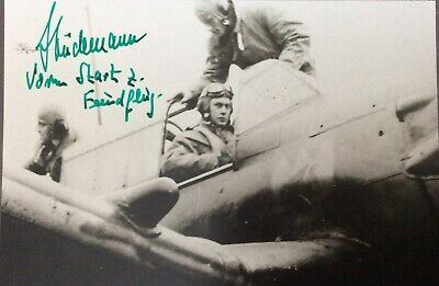 Gerhard Studemann - Luftwaffe Stuka Fighter Pilot Signed Photo
