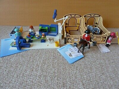 Playmobil 4346 Vet Operating Theatre and 5110 x2 Stables