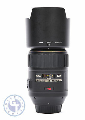 Nikon AF-S VR Micro-NIKKOR 105mm f/2.8G IF-ED Lens - UK MODEL