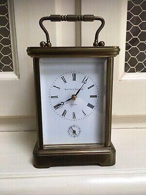 Matthew Norman 1750 Grande Corniche Striking Repeater Alarm 8 Day Carriage Clock