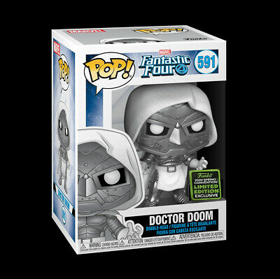 Funko Pop Fantastic Four Doctor Doom 2020 ECCC Shared Exclusive 591 NEW PREORDER