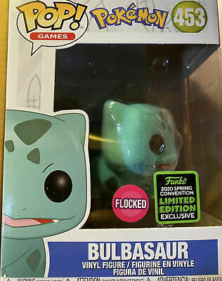 Funko Pop Bulbasaur Flocked Pokemon 2020 ECCC Shared Excl 453 BRAND NEW PREORDER