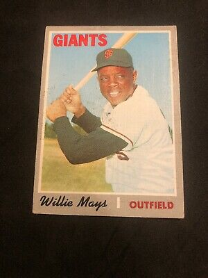 1970 Topps #600 Willie Mays CREASE FREE S.F. Giants HOF VG+/EX NO RESERVE