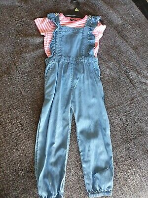 Girls Dungarees/playsuit Outfit 4-5 Years VGC