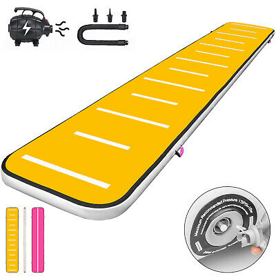 20FT Air Track Inflatable Airtrack Tumbling Gymnastics Mat w/Pump Yoga 8in Home