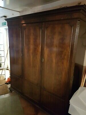 Flame mahogany triple  wardrobe