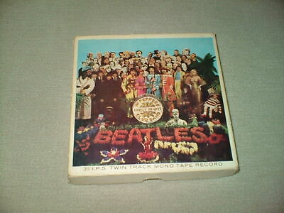 BEATLES ORIGINAL 1960s SGT. PEPPER LONELY HEARTS CLUB UK 3 3/4 REEL TO REEL TAPE