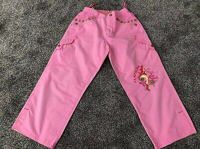 Girls Pink Pampolina Trousers Age 9-10 Or 140cm