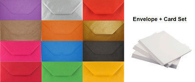 DL Coloured Envelopes With White Cards Party Invitations Weddings Craft