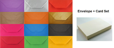 DL Coloured Envelopes With Ivory Cards Party Invitations Weddings Craft