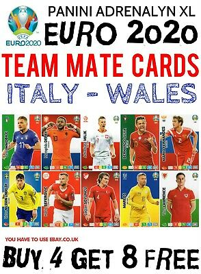 Panini Adrenalyn Xl Uefa Euro 2020 Team Mate Cards - Italy To Wales #209 - #306
