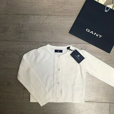 GANT cardigan 5 years Girls Cream White cardi BNWT