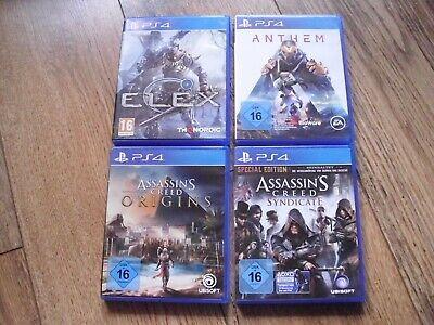 ☆ PS4 Spielesammlung: Assassins Creed: Origins | Syndicate | Elex | Anthem ☆