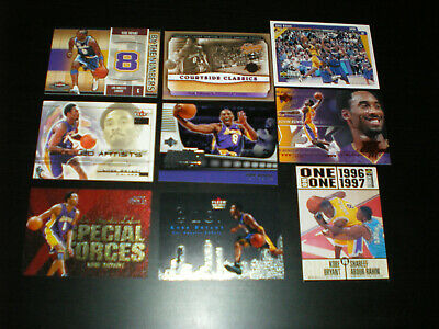 Kobe Bryant Lot (9) W/1996-97 COLLECTOR'S CHOICE ROOKIE +INSERTS HOF. LAKERS