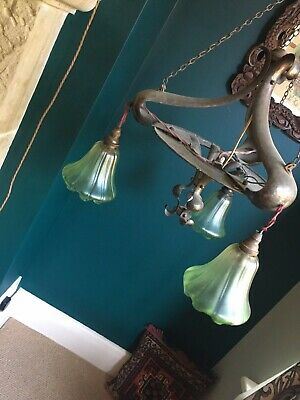 Arts & crafts/nouveau Glass Lampshades (SHADES ONLY)