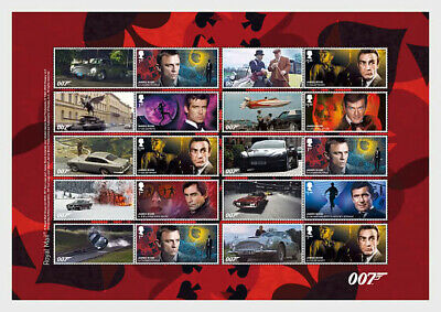 Stamps of Great Britain 2020 - PRE-ORDER - James Bond. Collector's Sheet.