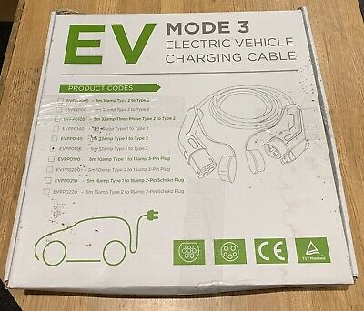 EV / Electric Car - Charging Cable | 5m | 32Amp | Type 1 to Type 2