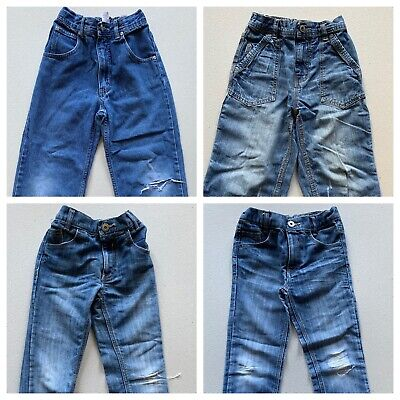 Boys Jeans Age 7-8 x 4 Pairs Bundle, Pre Used, Worn, Job Lot