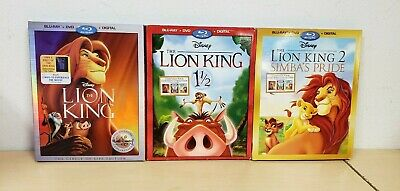 Lion King Collection (Blu Ray + DVD, 3 Movies) **No Digital Codes**