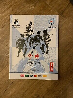 RUGBY WORLD CUP 2019 PROGRAMME RWC2019 Wales V France Quarter Final 3