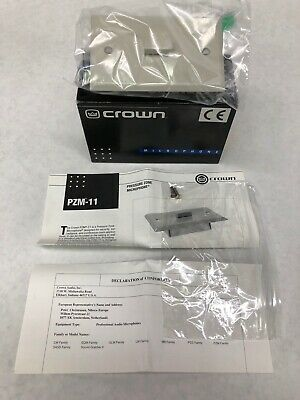 Crown PZM11 Security Microphone Wall Plate Mountable Pressure Zone Off-White