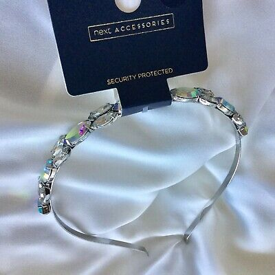 NEXT Ladies Silver Tone Jewelled Headband RRP: £12.50 BRAND NEW WITH TAGS