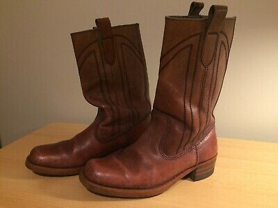 Vintage Mens Cowboy Western style leather boots