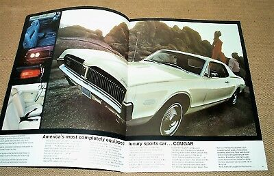 Mercury Cougar 1968 : Catalogue  grand format en anglais