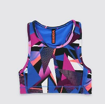 New M&S All Over Print Cropped PE / Gym Top Age 10-11yrs