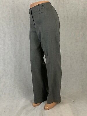 Ann Taylor Loft Julie Wool wide leg  trouser dress pants size 10 light gray
