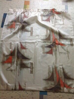 Vintage 1970s Retro Abstract Curtain Kitsch Material Fabric Selling 8 Separately