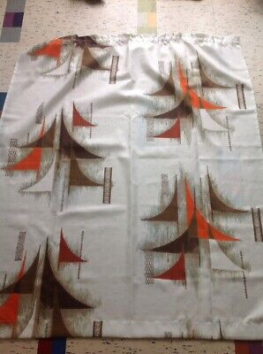 Vintage 1970s Retro Abstract Curtain Material Fabric Kitsch Selling 8 Separately