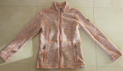 McKINLEY Damen Fleece-Jacke Kipapa Fleecejacke - Orange meliert - Gr. 38