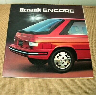 Renault Encore ca. 1984: Rare catalogue grand format imprimé aux USA.