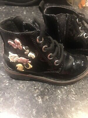 Zara Baby Girls Minnie Mouse Boots Size 23