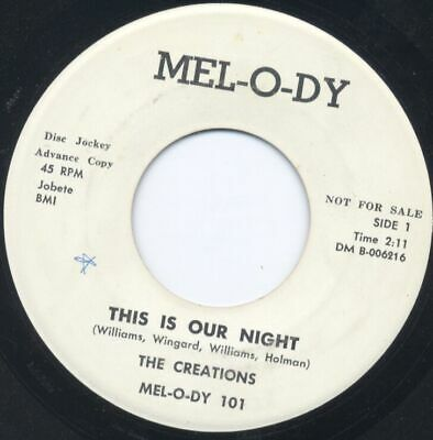 Sweet/Northern - CREATIONS - This is Our Night - Mel-O-Dy